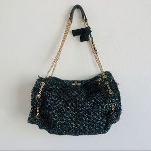 J. Crew Tweed Chain Wool Frayed Purse